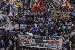 100.000 Menschen in Rio gegen Wasserprivatisierung 9.2.2017