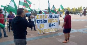 Protest der Entlassenen bei Ikea Sevilla im Januar 2017