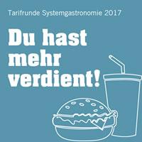 Tarifrunde Systemgastronomie 2017