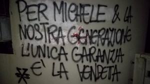 Protestplakat wegen Selbstmord in Italien am 8.2.2017