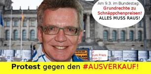 [9.3.2017] Datenschutz-Total-Ausverkauf? Digitalcourage protestiert vor dem Bundestag