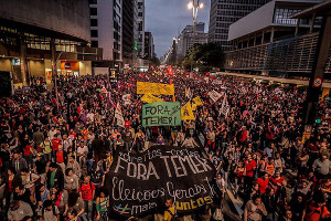 Die Demonstration in Belo Horizonte am 15.3.2017 gegen die Rentenreform der brasilianischen Regierung war die grösste seit vielen Jahren, über 100.000 Menschen beteiligten sich