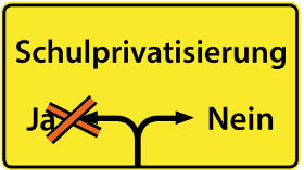 Keine Privatisierung von Schulen! Änderung des Grundgesetzes und der Begleitgesetze jetzt stoppen!