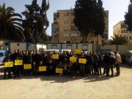 Beschäftigte der algerischen Sonagaz im streik am 21.3.2017