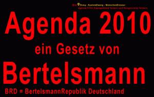 Agenda 2010 ist ein Gesetz von Bertelsmann