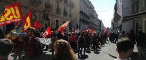 Demonstration in Catania beim Schulstreik der Basisgewerkschaften in Italien am 17.3.2017
