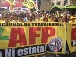 Millionen in Chile auf der Straße: Schluss mit der privaten Rentenver-un-sicherung