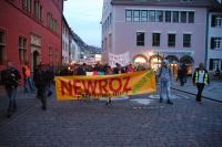 Demonstration zum kurdischen Neujahr in Freiburg am 20.3.2017 - verfolgt wie in der Türkei