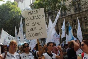 Lehrerinnen demonstrieren in Buenos Aires am 22.3.2017