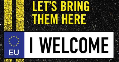 """Aktion in Brüssel: """"Lasst sie uns herbringen"""" - """"let`s bring them here"""""""