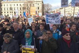 Londoner Demonstration zur Verteiigung des NHS am 4.3.2017