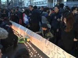 28.3.2017: Protest gegen Polizeigewalt in Paris