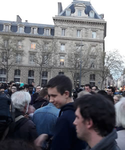 Protest gegen Polizeigewalt in Paris am 30.3.2017 - Foto von Bernard Schmid