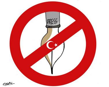 Pressefreiheit (hier: keine, Türkei)