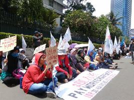 Protest vor deutscher Botschaft in Indonesien am 30.3.2017