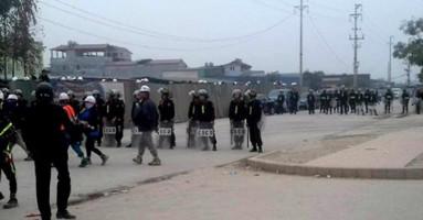 Vietnams Polizei gegen Samsung Arbeiter 28.2.2017