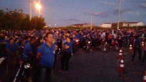 Generalstreik Brasilien am 28.4.2017: 6.000 Schuharbeiter in einem Ort den keiner kennt, beteiligen sich (erstmals) an einer gewerkschaftlichen Aktion