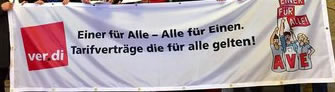 """ver.di-Kampagne zur Allgemeinverbindlichkeit von Tarifverträgen im Handel: """"Einer für alle - Tarifverträge, die für alle gelten!"""""""