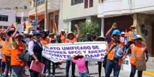 Die Belegschaft von Southern Copper in Peru streikt seit 10.4.2017 trotz verbot durch die Regierung