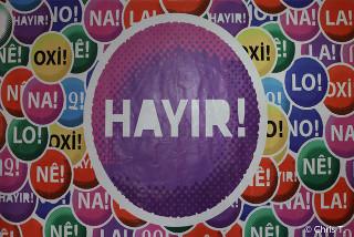 Wahlplakat der Neinkampagne in der Türkei, April 2016