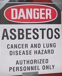 danger asbestos!