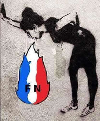 Graffiti in Frankreich 2017: Kotz auf den FN