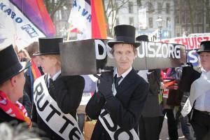 Demonstration gegen private Krankenversicherung in Den Haag am 20.2.2017