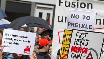 IG Metall und IG BCE warnen vor Fusion von Linde und Praxair