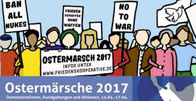 Netzwerk Friedenskooperative: Ostermärsche und -aktionen 2017