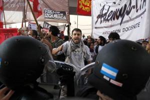 6.4.2017 Generalstreik in Argentinien - überall waren die LehrerInnen ein wesentlicher Bestandteil der aktiven Proteste
