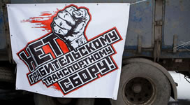 Rußland: Streikende Trucker rüsten zum 1. Mai