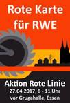 RWE-Hauptversammlung 2017 am 27. April: Kritische Aktionäre zeigen RWE die Rote Karte