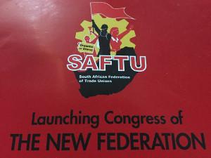 Plakat zum Gründungskongress der SAFTU April 2017