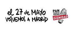 Mobilisierungsplakat wuerdemarsch 2017 Madrid