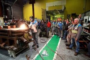 Maximale Medienwirksamkeit: Die Zerstörung einer Maschine bei GM&S im Mai 2017