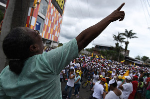 Die westkolumbianische Hafenstadt Buenaventura - im Mai 2017 geschlossen durch sozialen streik