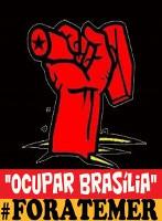 Mobilisierungsplakat der brasilianischen Gewerkschaftsverbände zum Marsch auf Brasilia ab 19. Mai 2017
