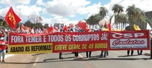 Conlutas in Brasilia am 24.5.2017 - für einen neuen Generalstreik