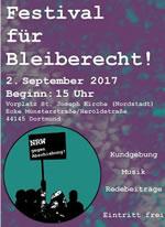 2.9.2017 in Dortmund: Gemeinsam für Bleiberecht! Gemeinsam gegen Abschiebung!