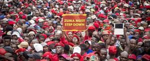 Proteste gegen Zuma sind, wie auf dem Bild zu sehen, längst keine der weißen Privilegien mehr