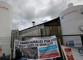 Kampf der Belegschaft von GM&S in Frankreich
