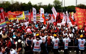 Auch in Ankara stand am 1. Mai 2017 die Verteidigung des Nein beim Referendum im Mittelpunkt