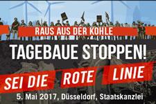 [Aktion am 05.05.2017 in Düsseldorf] Braunkohlentagebaue stoppen – Rote Linien für Garzweiler und Hambach