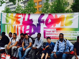 [September 2017: Dezentrale Aktionstage und Antirassistische Parade in Berlin]  Welcome United - Für das Recht auf soziale Rechte