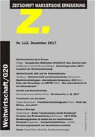 """Zeitschrift Marxistische Erneuerung """"Z"""" 112"""