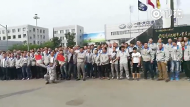 Erneuter Protest der VW Leiharbeiter in China am 21.5.2017