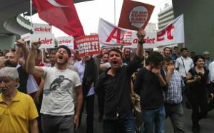 Nicht nur CHP mobilisierte zu den Demos gegen Verurteilung wg Spionage des Abgeordneten der CHP 14.6.2017