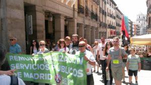 Demo für Rekommunalisierung in Madrid am 4.6.2017: keine Massenmobilisierung