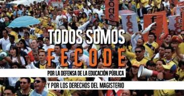 Gewerkschaftsföderation Fecode in Kolumbien