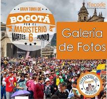 6.6.2017 Bogota über 100.000 LehrerInnen besetzen die Hauptstadt